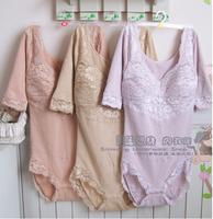 Plus Size Women's Bra Wire Free  Comfortable Bodysuits Sexy Lace Cotton Leotard M L XL