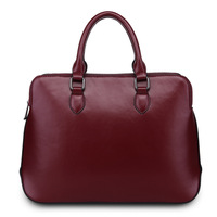 bag bag of Europe and the United States 2014 new autumn and winter wine red leather handbag fashionista leather handbag