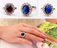 Hot Sale Fashion Women Rings Classic 18K Silver Plated Luxury Women Jewelry Casual rings for Women Romantic Wedding Rings Drop