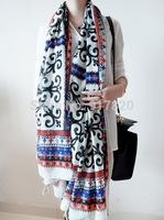 Winter Fashion Women Lady Totem Silk Scarf  Scarve Wrap Shawl Muffler Multi Color 180x110cm