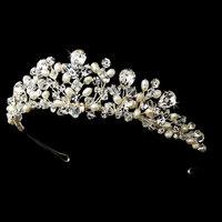flower headband rhinestone pearl hair band tiara bridal hair accessories wedding jewelry crystal handmade hair bands crown