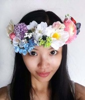 New Arrival Free shipping 2014 new all handmade multi-colour exclusive spring wedding vine vacation twig floral crown