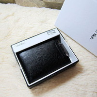 Free shipping!New 2014 purse Wholesale men's genuine leather wallet Men's purse wholesale More screens card package