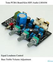 Tone PCBA Board Kits HIFI Audio LM1036 Equal Loudness Control Bass Treble Volume Adjustment Compact DIY Free Shipping