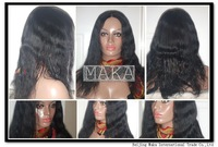 Top quality virgin brazilian natural wave glueless front lace wig full lace wig hu-woman hair black woman free shipping