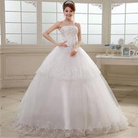 2014 spring new Korean version of sweet wedding dress Qi Princess Bride Lace Bra straps paragraph