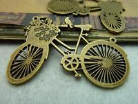4pcs/lot 42*58mm antique bronze plated bike charms