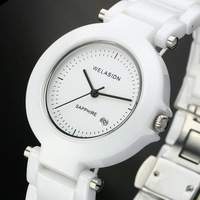The new fashion casual luxury brand women dress watch diver quartz ceramic watches 2 colors women wristwatch free shipping