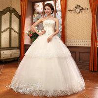 Korean version of the bride wedding dress 2014 new favorite Qi was thin waist straps New Specials