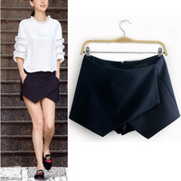 Woman Autumn & Winter Lady woolen Women hot shorts Sexy Shorts Wrap Mini Skirts Invisible Tiered Culottes Trousers