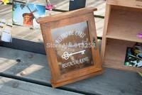 European Style Solid Wood Nostalgic Key Box / Wall Deco / Wall Key Box / Key Holder. Wall Hanging  Free Shipping