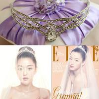 Noble French Designs Silmple Zircon  Rhinestone Crystal Bridal Hair Crown Wedding Tiara Jewelry Accessories
