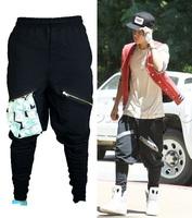 Justin Bieber Brand squirrel pants men Harem hip hop pants with Zipper sarouel men baggy pants Stretch trousers loose pantalon