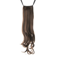Women's Long Style 60cm Curly Hair Extensions Tie Band Ponytail