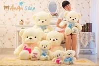 Free Shipping New Cute Stuffed Animal Doll 25'' 65cm Nice Plush Scarf Teddy Bear Soft Toy Good Quality Birthday Christmas Gift