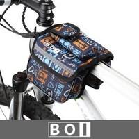 Double bag multicolor tube saddle bag bike bag dual personality on the bike