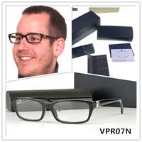 VPR 07N glasses brand eyeglasses men black Full-frame acetate optical frames for men fashion brand eye glasses with Original box