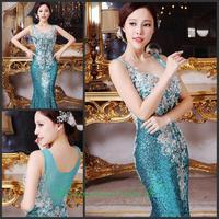 2014 new crystal wedding toast the bride dress vestido de noite free shipping f6y4r4