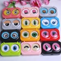 Free ship!16box!Owl eyes contact lens case / glasses companion box/Eyewear box/eyeglosses box