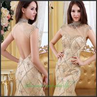 2014 new crystal wedding toast the bride dress vestido de noite free shipping f4g5h6