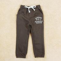 Retail FREE SHIPPING boy pants new 2014 brand full length kids trousers straight jersey elastic waist children pants B4751