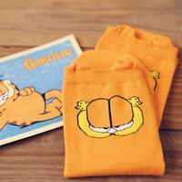 Kawaii Garfield 100% Cotton Cartoon Socks Women's Socks XX1