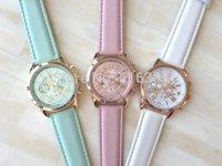 Free Shipping rendy Women Dress Watch Quartz Watches Faux Leather Feather Geneva Watch 20pcs/lot
