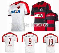 New Top! Best Thai Quality 14/15 Flamengo Soccer Jerseys,Flamengo FC 2015 HERNANE ZICO ALECSANDRO ELANO Jerseys shirt