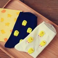 Kawaii Little Chicken 100% Cotton Cartoon Socks Couple Socks XX1