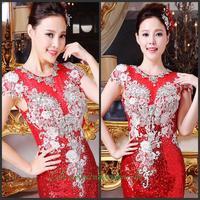 2014 new crystal wedding toast the bride dress vestido de noite free shipping g5h6j7