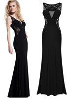 New autumn roupas femininas wedding cloth women Lace black Mermaid Vintage long maxi Evening party Dress gown vestido longo