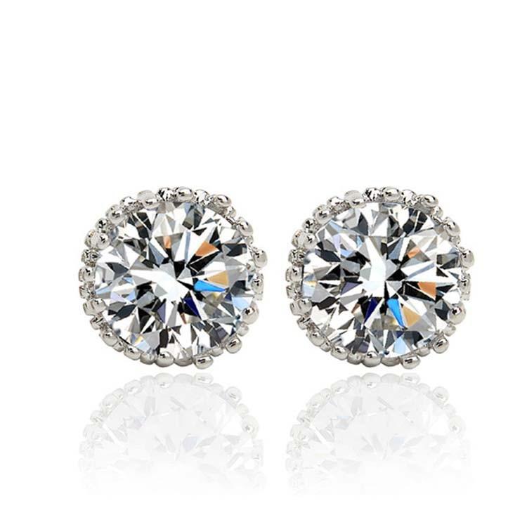 Alexandrite Earrings White Gold 18k White Gold Earring For
