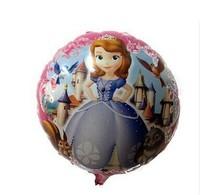 New arrive 20pcs/lots wholesales Princess Sophia balloon Birthday party Printed cartoon balloons Hot Free shipping