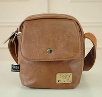 Men's messenger bags small travel bags casual leather shoulder bags phone bags
