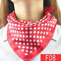 50*50cm red dots Mobile telecommunications female flight attendants bank staff who wear scarves silk scarf wholesale