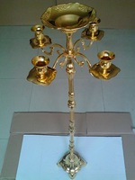 Unique tallest gold metal 105CM height candelabra, 5-arms candle holder, wedding candle stick with flower bowl