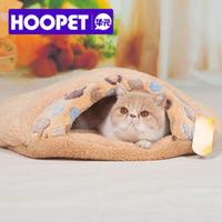HOOPET New Fashion Small paw prints super thick super soft  hamburger-style Pet Cat Beds & Pet Cats sleeping bag/Kitty Litter