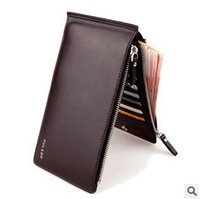 2014 Newest Fashion Black Man Purse,  Brown Classical Men's Wallet, Mobile Phone Package Ultrathin Double Zipper Business Wallet
