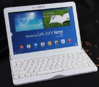 jia White Ultra Slim Wireless Bluetooth Keyboard Case Dock For Samsung Galaxy Note 10.1 2014 Edition P600 P601