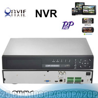 High Resolution P2P cloud 25CH NVR 25 channel 1080p recording ONVIF protocol remote view monitor by mobile