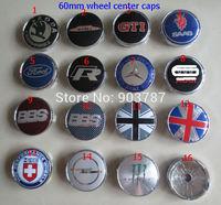 MIX 20pcs 60mm alloy skoda R GTI saab BBS england flag HRE opel mini works monster wheel center caps hub cover badge car emblem
