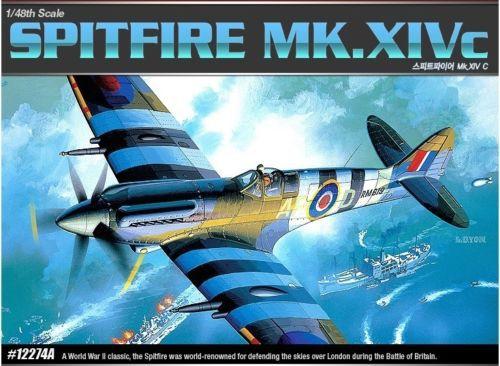 Academy 12274 1/48 Spitfire MK. XIV-C Aircraft Plastic Model Kit Free Shipping(China (Mainland))