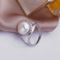 Steamed bun shape fashion selling 10-11 mm rings Ms authentic zhuji natural freshwater pearl jewelry