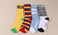 Retail !Odd Future OFWGKTA Golf Wang Striped/Cloud/Tiger Crew Socks Double Layer Thicker Terry Socks