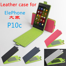 New Elephone P10C Contrast Color Phone Bag PU Leather Flip Case Cover Smartphone Cover Elephone Leather Phone Cases High Quality
