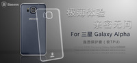 For Samsung galaxy alpha ultrathin Baseus Mobile Phone Bag Cover For Samsung galaxy alpha imported TPU material case ST-BS78