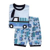 Boys Girls Short Sleeve Pajamas2 pcs set new pyjamas 2014 brand babys cotton sleepwear  -ZQZ281C