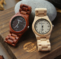 Unique newest design health red sandal wood watch, bewell brand luxury gift wooden wrist watch for men or lady ML0584