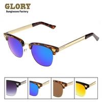2014 New Vintage Retro Sunglasses Clubmaster Brand Designer Glasses Men Women Coating Blue Film Oculos De Sol Cazal Gafas Versus