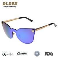 2014 New Steampunk Vintage Retro Sunglasses Coating Refletive Mirror Brand Designer Glasses Men Women Cool Sport Oculos De Sol
